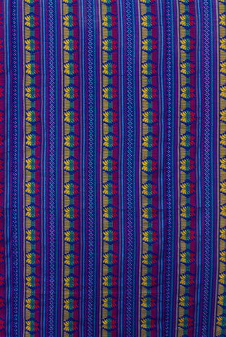 ABMC30 Blue Aztec Design Mod Cloth Backdrop - Backdrop Outlet