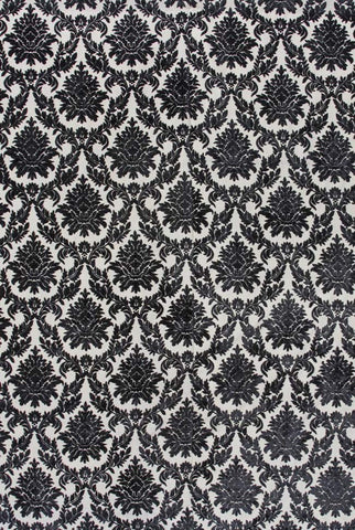 ABMC32 Black White Damask Stitched Mod Cloth Backdrop - Backdrop Outlet