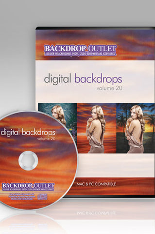 DSC120 Painted Scenics Digital Backdrops CD #20 - Backdrop Outlet