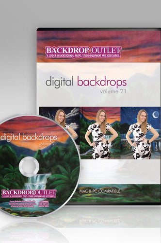 DSC121 Painted Scenic Digital Backdrops - Backdrop Outlet - 1