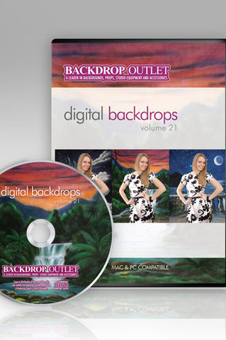 Painted Scenic Digital Backdrops CD #21 (Available as a CD or Digital Download) - DSC121 - Backdrop Outlet