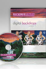 Painted Scenic Digital Backdrops CD #21 (Available as a CD or Digital Download) - DSC121