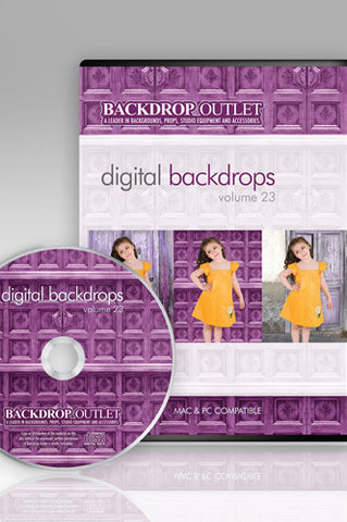 DSC123 Doors Digital Backdrops CD #23 (Available in CD or Digital Download) - Backdrop Outlet