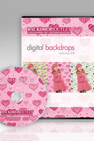 DSC124 Hearts And Romance Digital Backdrops - Backdrop Outlet