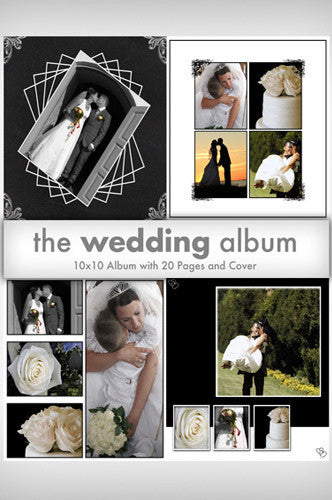 Downloadable Wedding Album Template Collection - DSD260 - Backdrop Outlet