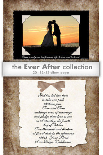 DSD265 Downloadable Ever After Wedding Templates - Backdrop Outlet - 1