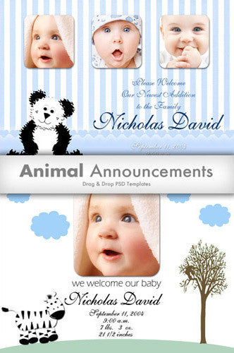 Downloadable Animal Template Collection - DSD350 - Backdrop Outlet