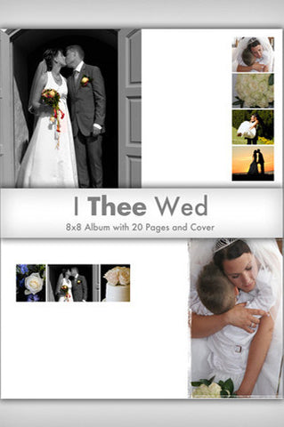 Downloadable I Thee Wed Photoshop Template Collection - DSD385 - Backdrop Outlet