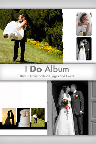 DSD830 Downloadable I Do 10In x10In Wedding Book - Backdrop Outlet - 1
