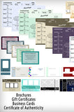 Downloadable Business and Marketing Template Collection - DSD840 - Backdrop Outlet