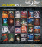 DVD2 Digital Backdrops  Includes CD's 10-18 Great Value - Backdrop Outlet