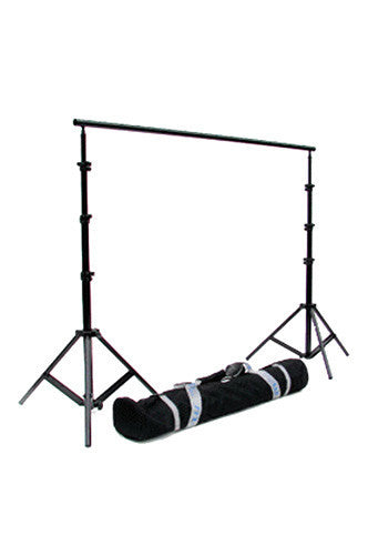 EX121 12'W X 9.6'H Heavy Duty Photography Background Stand with Adjustable Width Crossbar - Backdrop Outlet