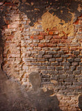 X001 Printed Background Distressed Brick Wall backdrop - Backdrop Outlet