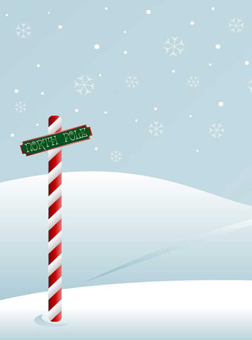 Christmas North Pole Backdrop - x078 - Backdrop Outlet