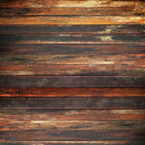 1055 Studio Printed Background - Brown Rustic Wood Floor Or Wall - Backdrop Outlet