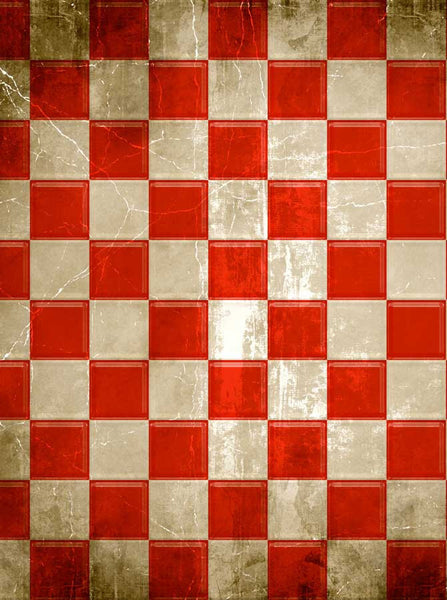 Red Checkerboard Check Backdrop - 1075 - Backdrop Outlet