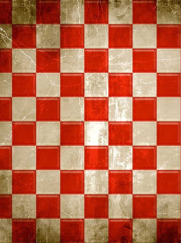 1075 Red Checkerboard Check Backdrop - Backdrop Outlet