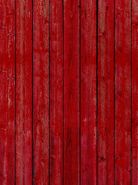 Red Barn Wood Photography Backdrop - 1078 - Backdrop Outlet