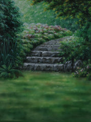 Printed Muslin Scenic Enchanted Forest Stone Pathway Backdrop - 109-10