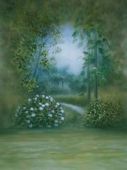 Printed Muslin Scenic Green Forest Entrance Pathway Backdrop - 109-20