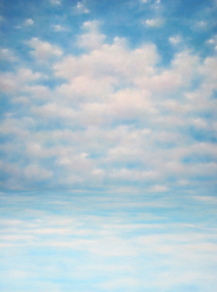 Printed Muslin Scenic Dreamy Sky Blue and Clouds Backdrop - 109-22