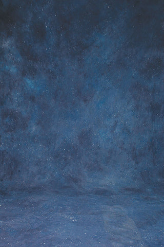 Printed Muslin Scenic Blue Galaxy Nightsky Stars Backdrop - 111-16