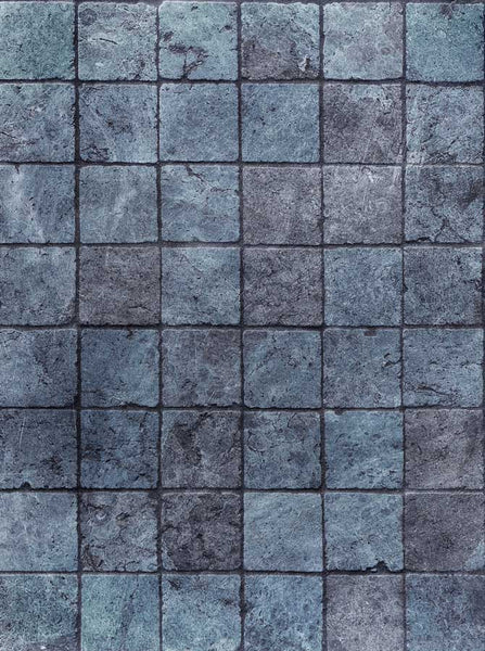 Blue Stone Printed Photography Wall or Floor Backdrop - 1116 - Backdrop Outlet