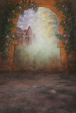 Printed Muslin Scenic City Floral Wall and Walkway Entrance Archway Backdrop - 112-20