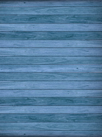 Printed Blue Wood Floor or wall Backdrop - 1124 - Backdrop Outlet