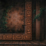 Printed Muslin Scenic Pillar Wood Design Stage Backdrop - 113-11