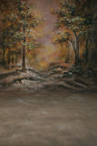 Printed Muslin Scenic Sunset Autumn Forest Backdrop - 113-6