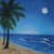 Printed Muslin Scenic Palm Tree Oceanic Sand Full Moon View Backdrop - 113-9