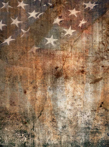 1206 Printed American Flag Patriotic Grunge Backdrop - Backdrop Outlet