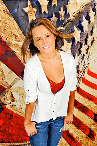 Grungy American Flag 3D Photography Backdrop - 1385 - Backdrop Outlet