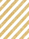 1436 Printed Metallic Gold Glitter  stripes Backdrop - Backdrop Outlet