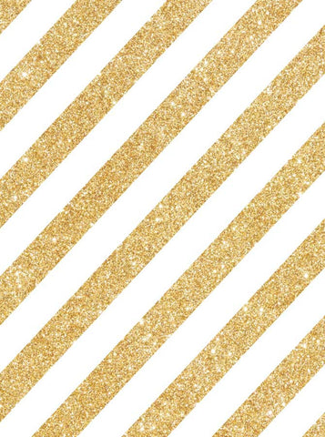Printed Metallic Gold Glitter Stripes Backdrop - 1436 - Backdrop Outlet
