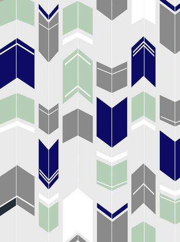 1438 Printed Arrows Grey Blue and Green Backdrop - Backdrop Outlet