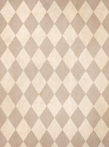 Printed Tan Harlequin Check Backdrop - 1509 - Backdrop Outlet