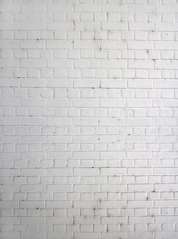 White Brick Wall Photography Backdrop - 1522 - Backdrop Outlet