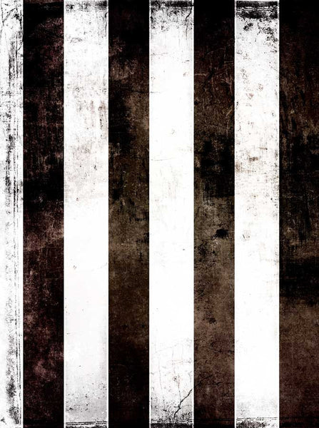 Printed Black White Stripes Backdrop - 1808 - Backdrop Outlet