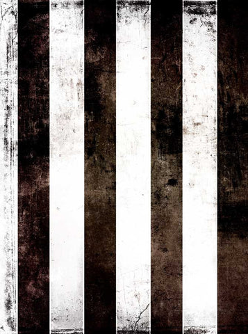 1808 Printed Black White Stripes Backdrop - Backdrop Outlet