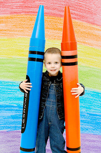 1878 Colorful Crayon Backdrop - Backdrop Outlet - 1