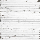 1936 White Planks Wood Backdrop - Backdrop Outlet