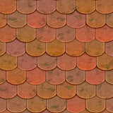 2055 Colorful Shingle Scales Wall Backdrop - Backdrop Outlet