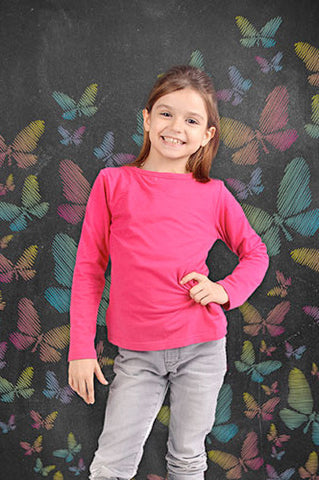 2205 Chalkboard Butterfly Colors Backdrop - Backdrop Outlet - 1