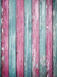 Baby Blue And Pink Wood Backdrop - 2224 - Backdrop Outlet