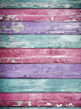 Baby Blue Pink Purple Wood Backdrop - 2225 - Backdrop Outlet