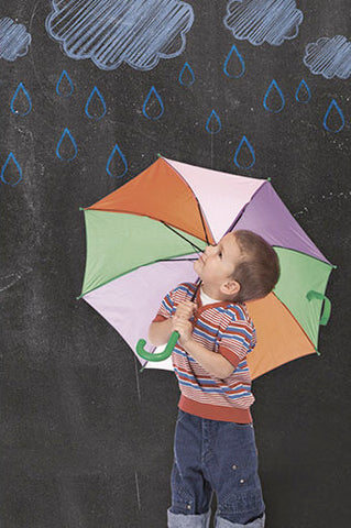 2230 Chalkboard Rain Clouds Backdrop - Backdrop Outlet - 1