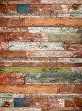 2263 Printed Distressed Colored Wood Backdrop - Backdrop Outlet