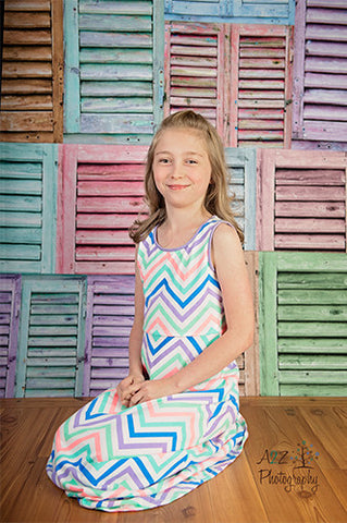 2276 Shutters Pastel Backdrop - Backdrop Outlet